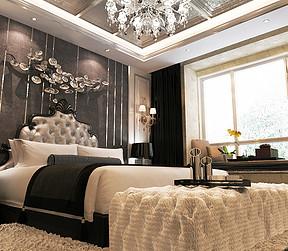 津南新城新中式风格卧室装修效果图