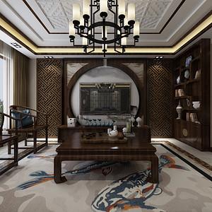 天茂湖 新中式 280平米 居室空间感