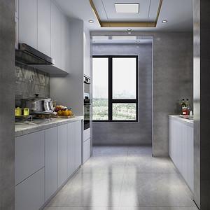 四居室-现代简约-厨房-效果图