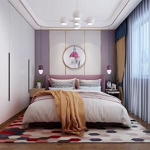 三居室-新中式-次卧-效果图