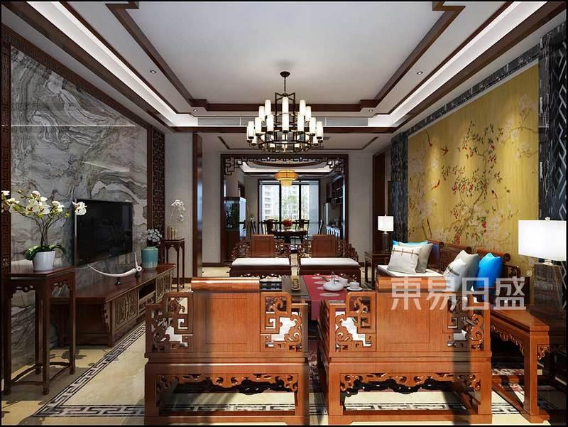 客廳效果圖大體量的紅木家具搭配效果圖_裝修效果圖