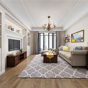 帆升公寓150㎡美式装修效果图 帆升公寓150㎡美式家装案例