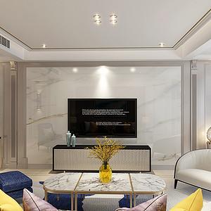 海德堡 现代美式装修效果图 四室二厅 180平米