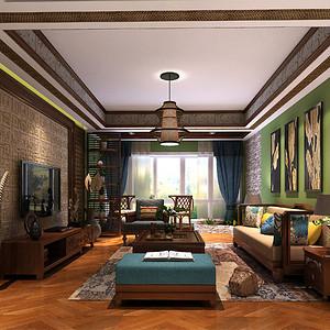泰式风格新房装修效果图