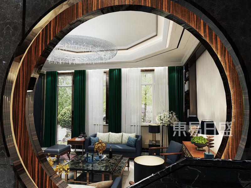 自建别墅中式风格楼梯装修效果图效果图 装修效果图大全2018图片