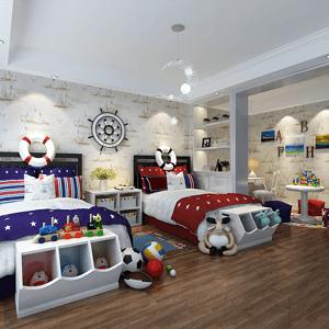 绿城御园现代简约360㎡儿童房