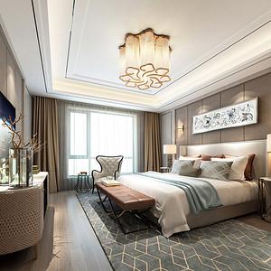 现代轻奢风格卧室效果图