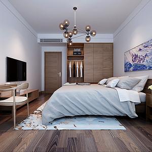 极简风格卧室效果图