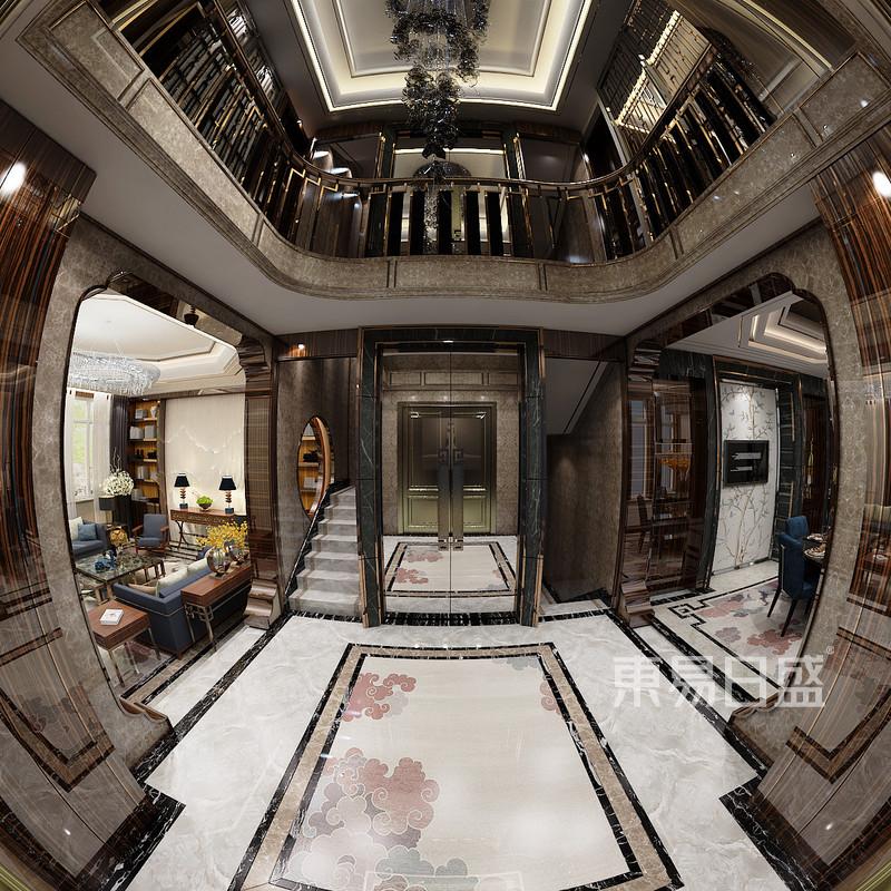 自建别墅中式风格入户装修效果图效果图 装修效果图大全2018图片