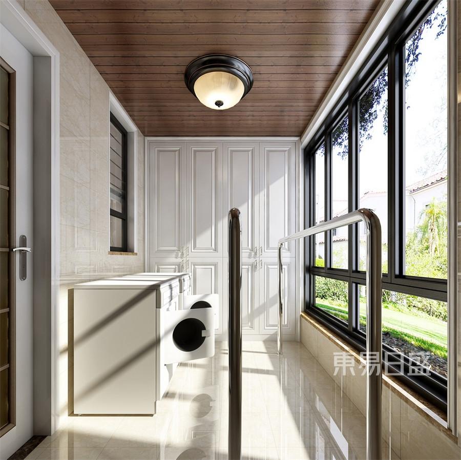 别墅-欧式古典-阳台-效果图