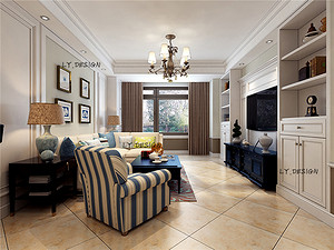美式风格--客厅