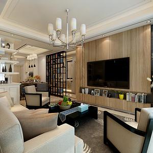 时尚简约客厅顶面地面和谐统一