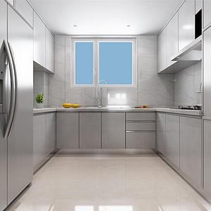 中铁十八局现代简约风格厨房装修效果图