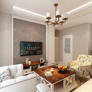 尚宁庄美式风格客厅装修效果图