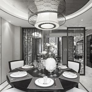 九号大院-诗意东方-餐厅装修效果图