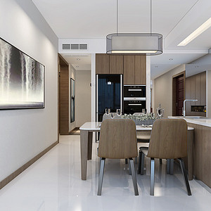 三居室-现代简约-餐厅-效果图