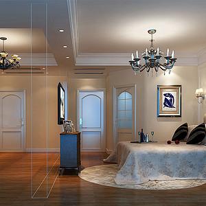 美式 温馨卧室