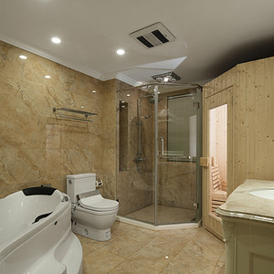卫生间古典风格装修实景图