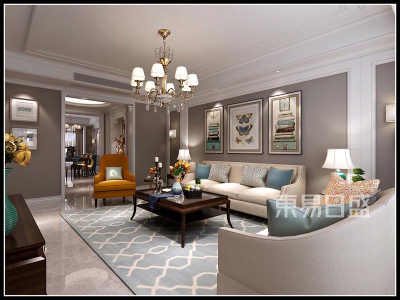 客厅简洁的吊顶线条以及墙板作为装饰效果图 装修效果图大全2018图