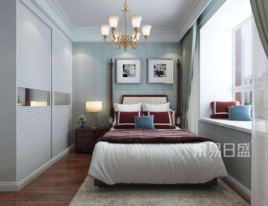 美式新古典风格-卧室-装修效果图