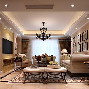 上海雷丁英郡500平美式风格装修