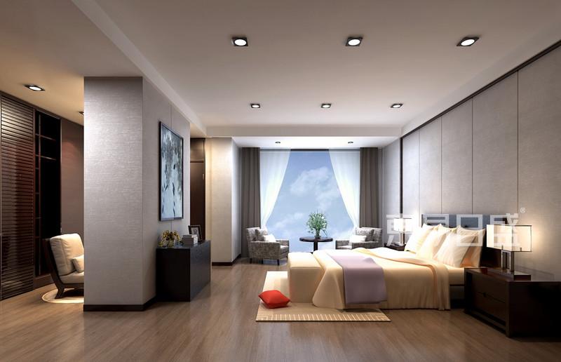 现代中式别墅装修效果图 卧室效果图 装修效果图大全2018图片 高清图片