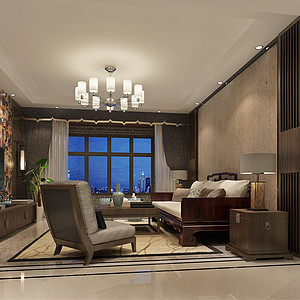 富锦家园-中式古典-140平米
