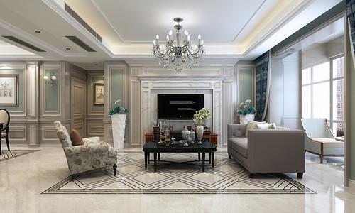 保利拉菲138美式新古典风格装修案例