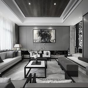 九号大院-诗意东方-客厅装修效果图