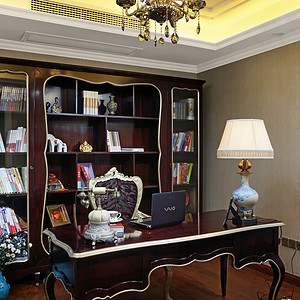 书房古典风格装修实景图