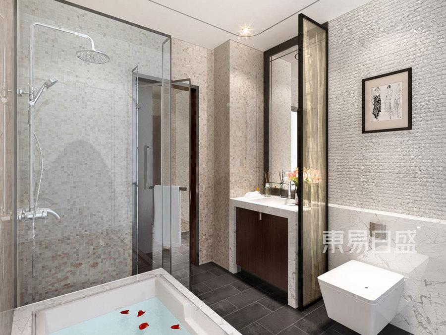 204㎡五居室 新中式风格 主卫装修效果图
