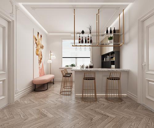 和众城阅 轻奢风格装修效果图 三室一厅 220㎡