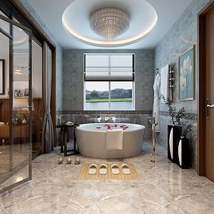 极简风格浴室效果图