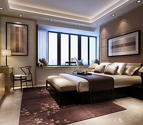 嘉和名苑-新中式风格-卧室效果图