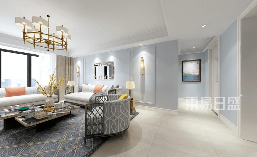拉德芳斯143平美式轻奢客厅装修图效果图   分享  收藏  空间  风格