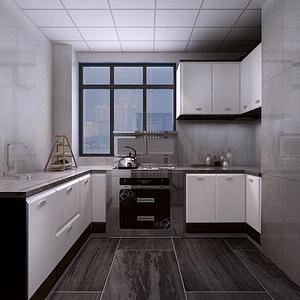 桃源观邸新中式厨房装修效果图