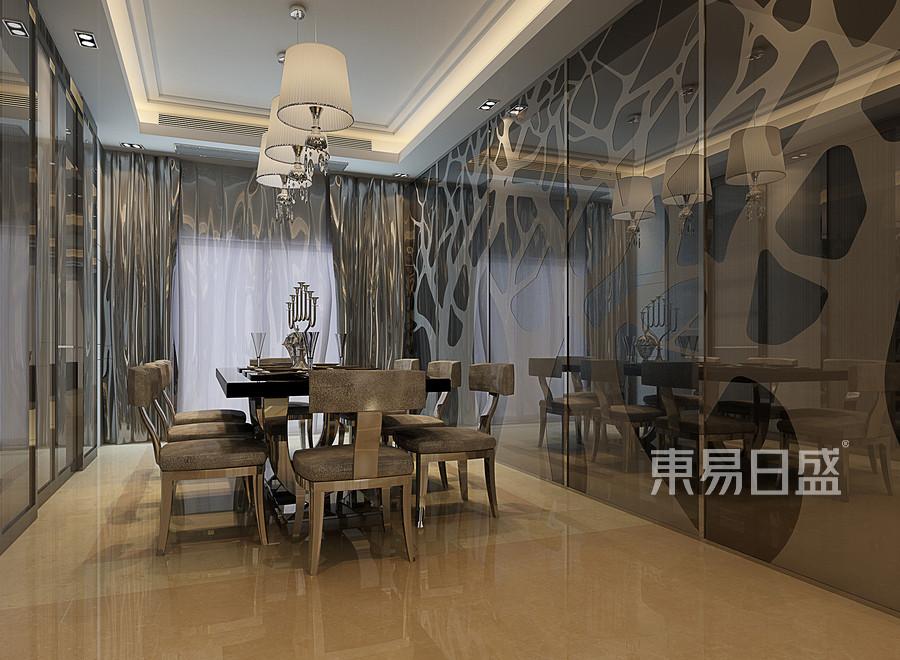 富豪山庄220㎡-简欧-餐厅效果图