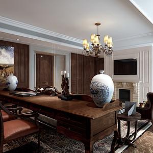 玉兰公寓新中式风格客厅案例效果图