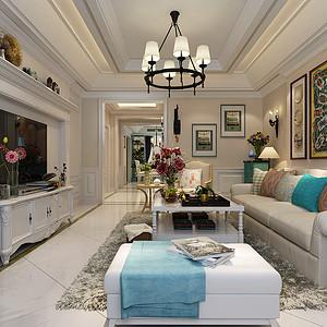 衡水天玺香颂-三居室-美式风格