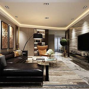 信达现代城 港式现代装修效果图 三室两厅 165平米