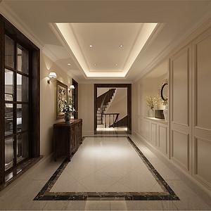 湖塘月色360平别墅新古典设计装修效果图