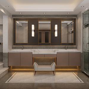 新世界丽樽 现代简约 卫生间装饰