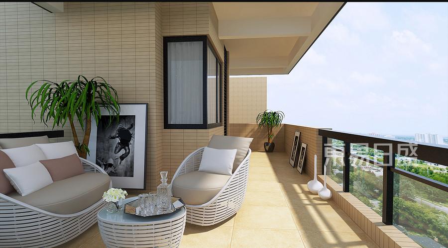 现代简约风格装修效果图-阳台