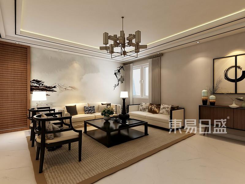 阳光小区北欧风格客厅装修案例效果图