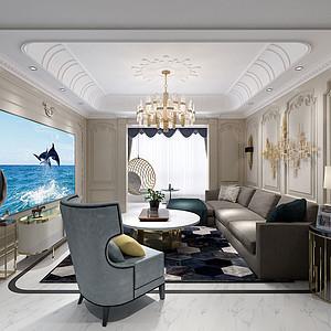 复地金融岛149㎡四居室现代混搭风格