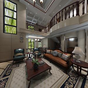 熙园山院 美式风格装修效果图 240平米 别墅装饰设计