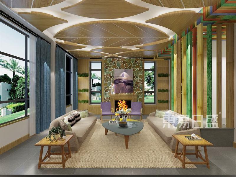东南亚风格-客厅