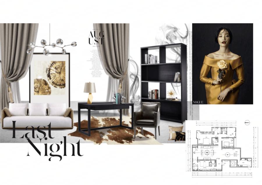 四居室-现代简约-书房-效果图