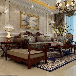 大都会欧式古典风格客厅装修效果图