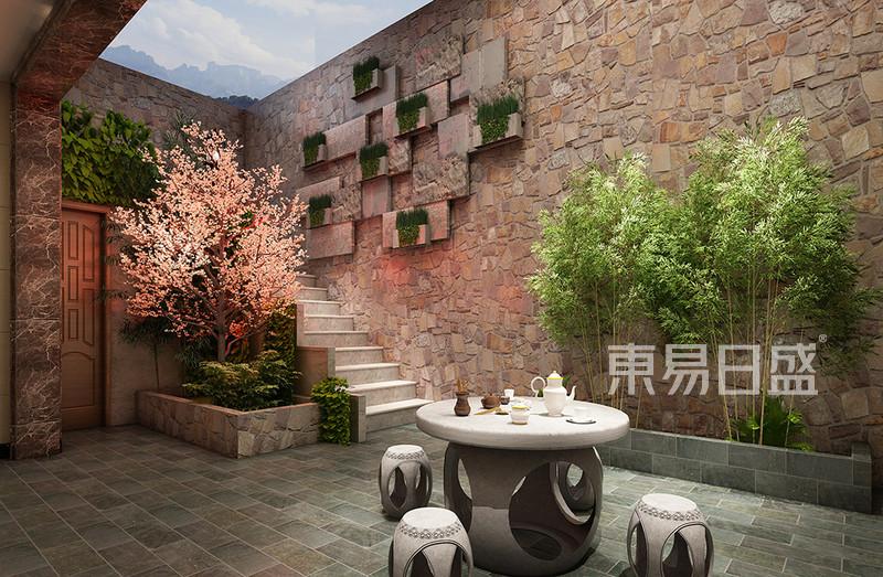 新中式风格别墅庭院装修